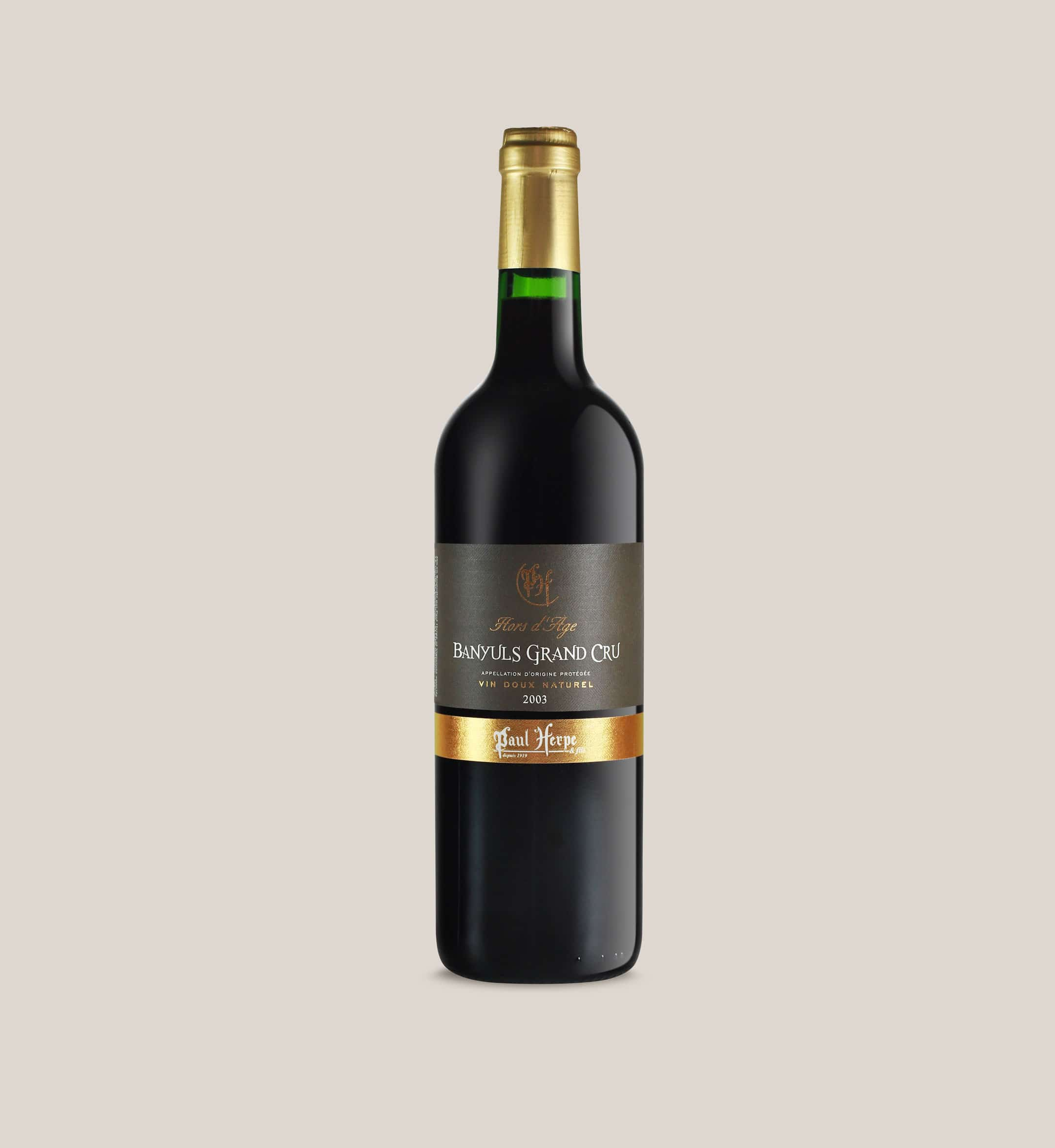 Banyuls grand cru bouteille vin doux naturel collection premium