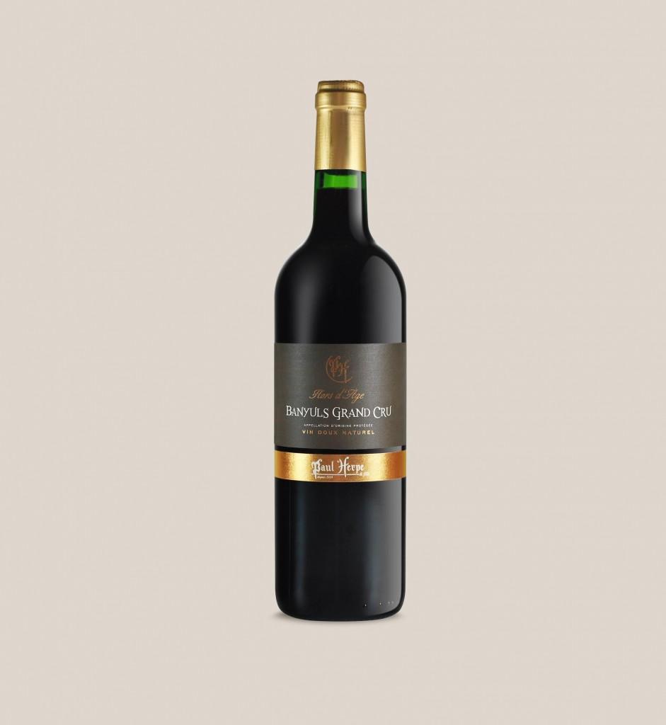 Banyuls grand cru Paul Herpe - bouteille de vin doux naturel collection premium