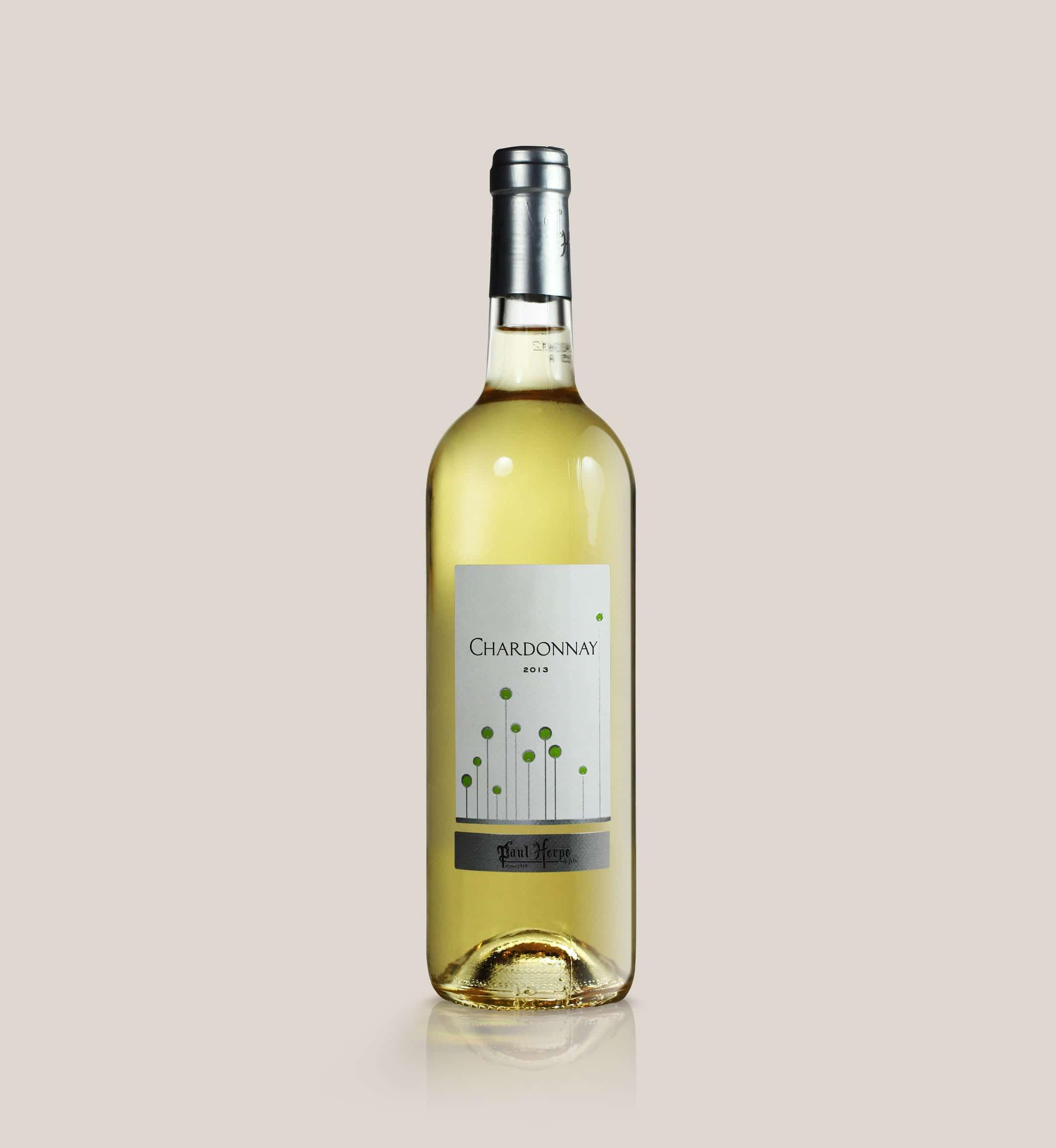 Chardonnay bouteille vin blanc de pays d'Oc Paul Herpe