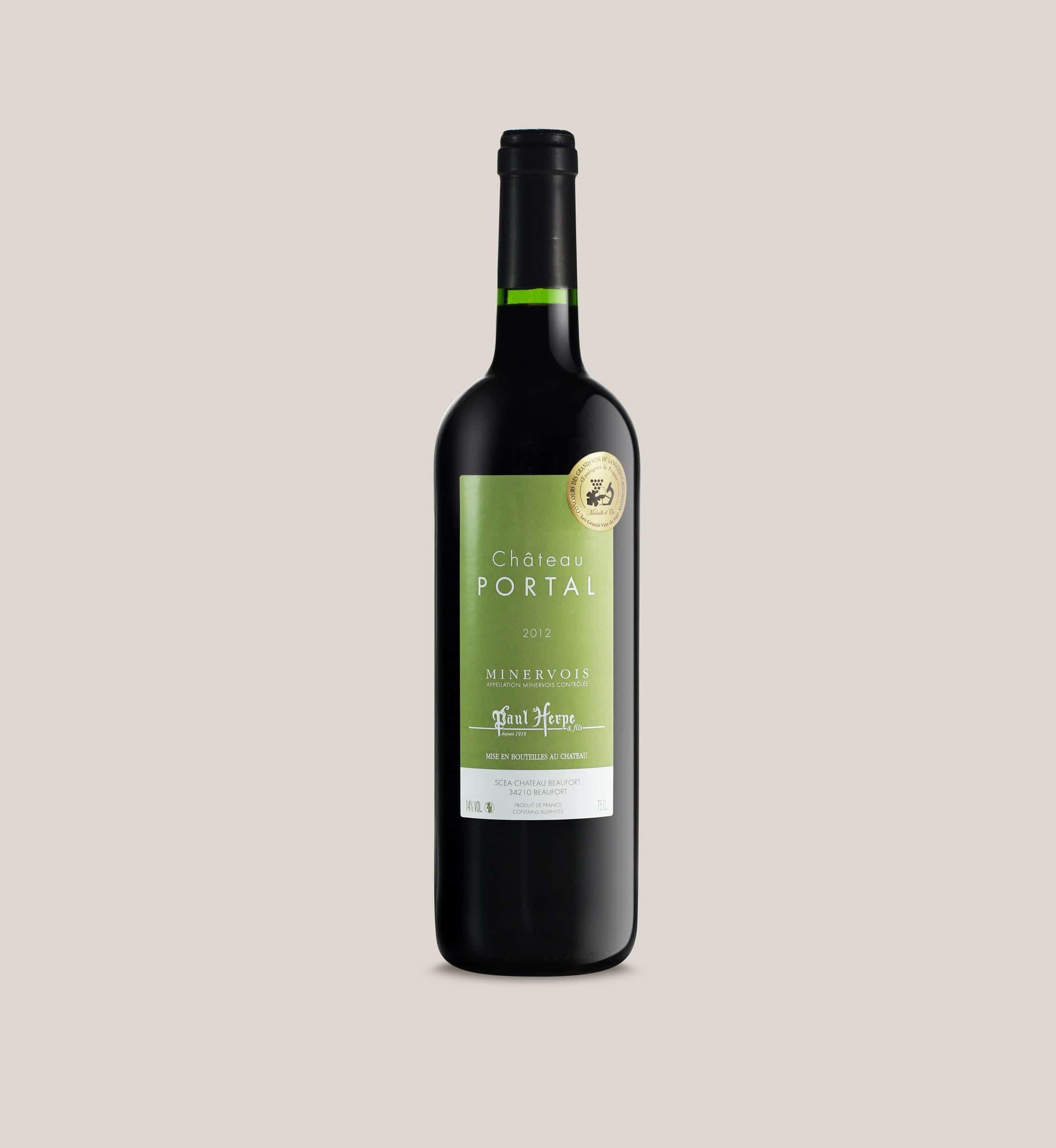Château Portal AOC Minervois bouteille vin rouge - Paul Herpe