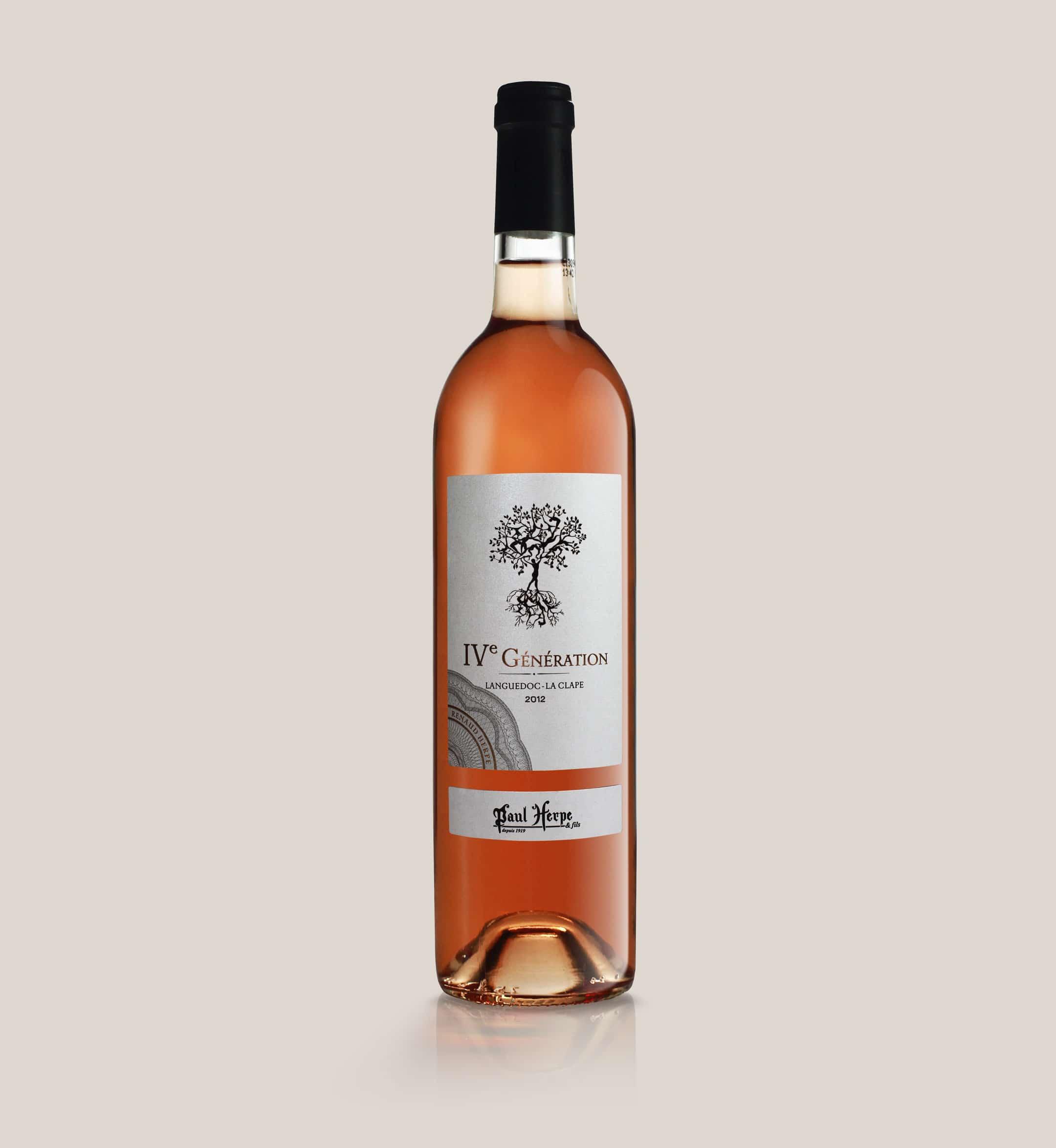Cuvée IV generation paul herpe aoc clape bouteille vin rose collection premium