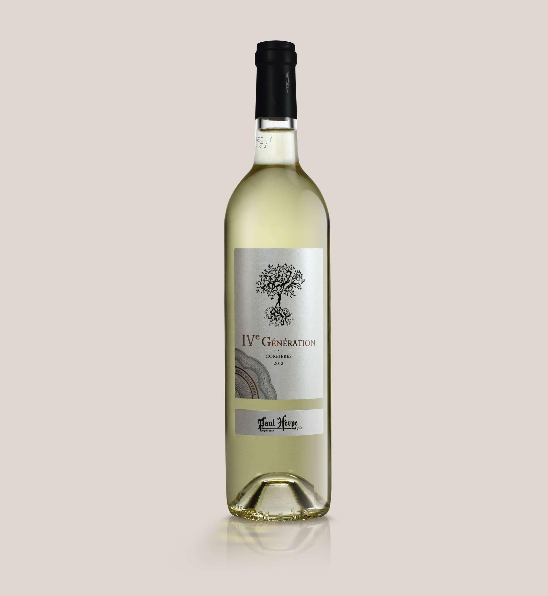 Cuvée IV generation paul herpe aoc corbieres bouteille vin blanc Collection premium