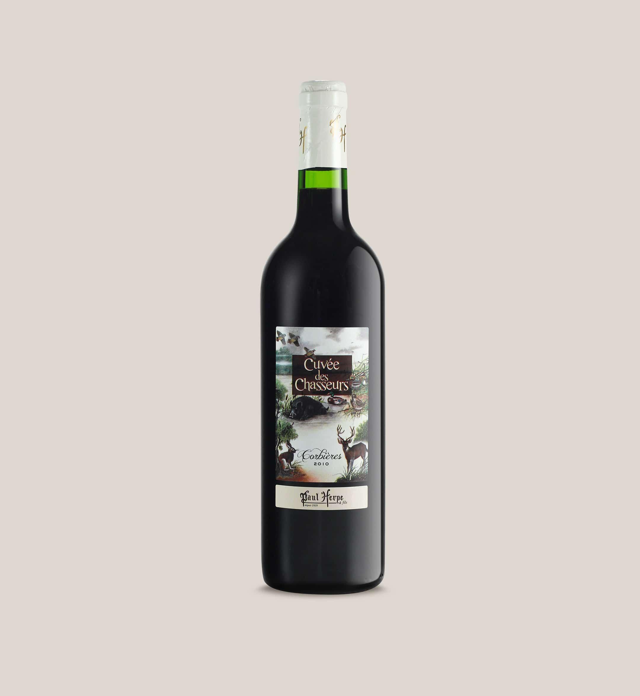 Cuvée des chasseurs AOC corbieres bouteille vin rouge - Paul-Herpe