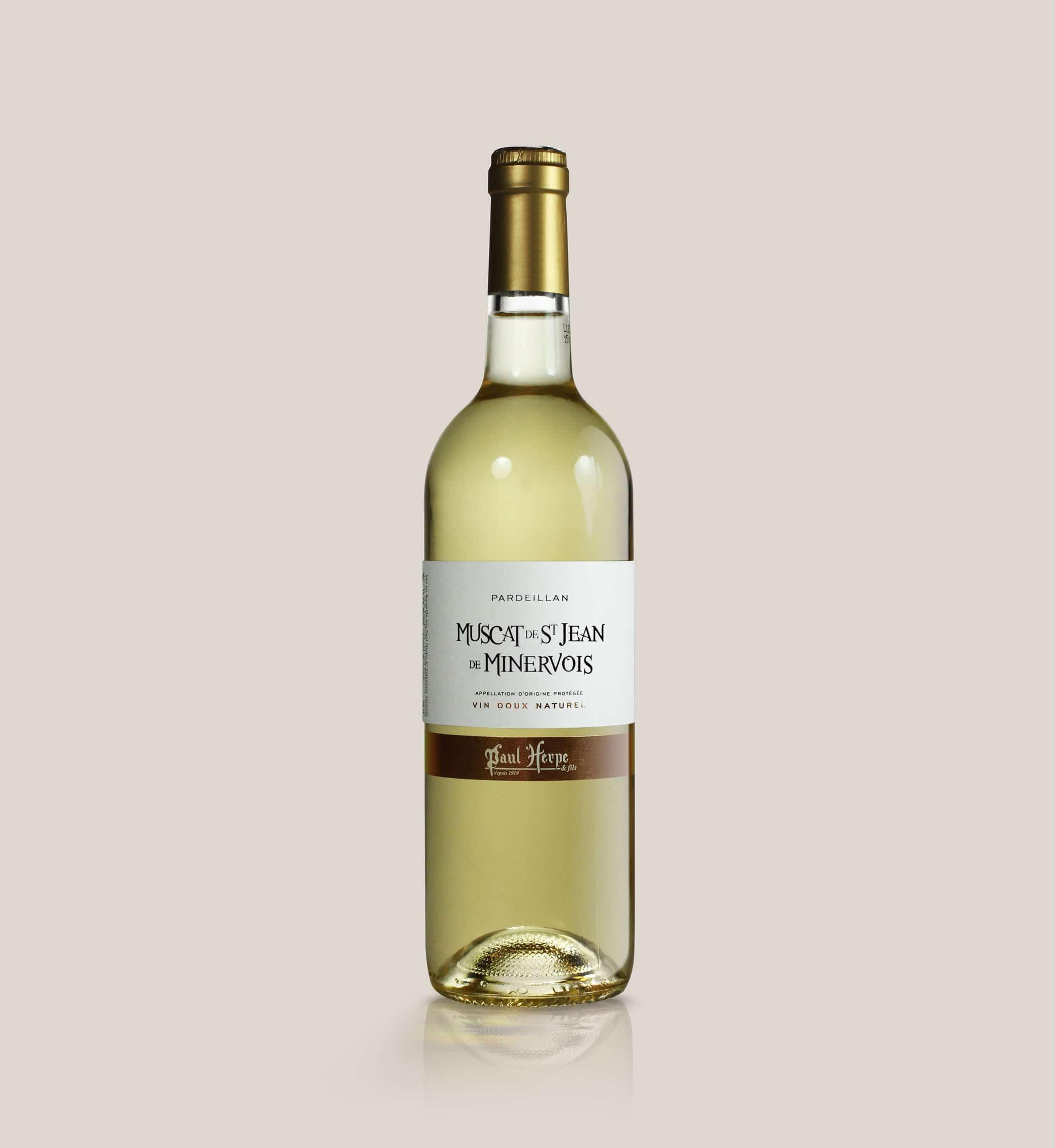 Pardeillan muscat saint-jean de minervois bouteille vin doux naturel Paul Herpe