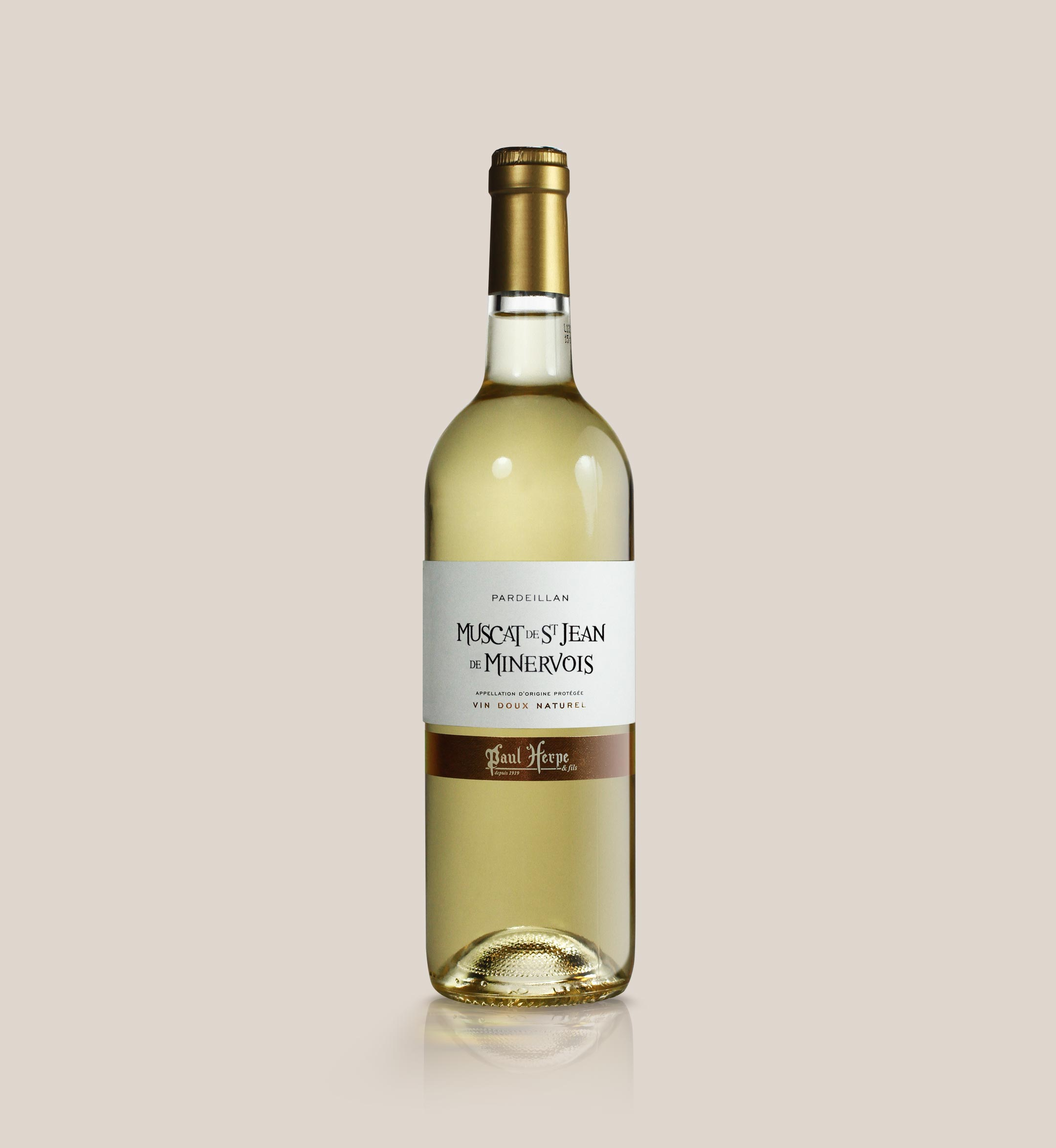 Pardeillan muscat Saint-Jean-de-Minervois - Bouteille de vin doux naturel Paul Herpe