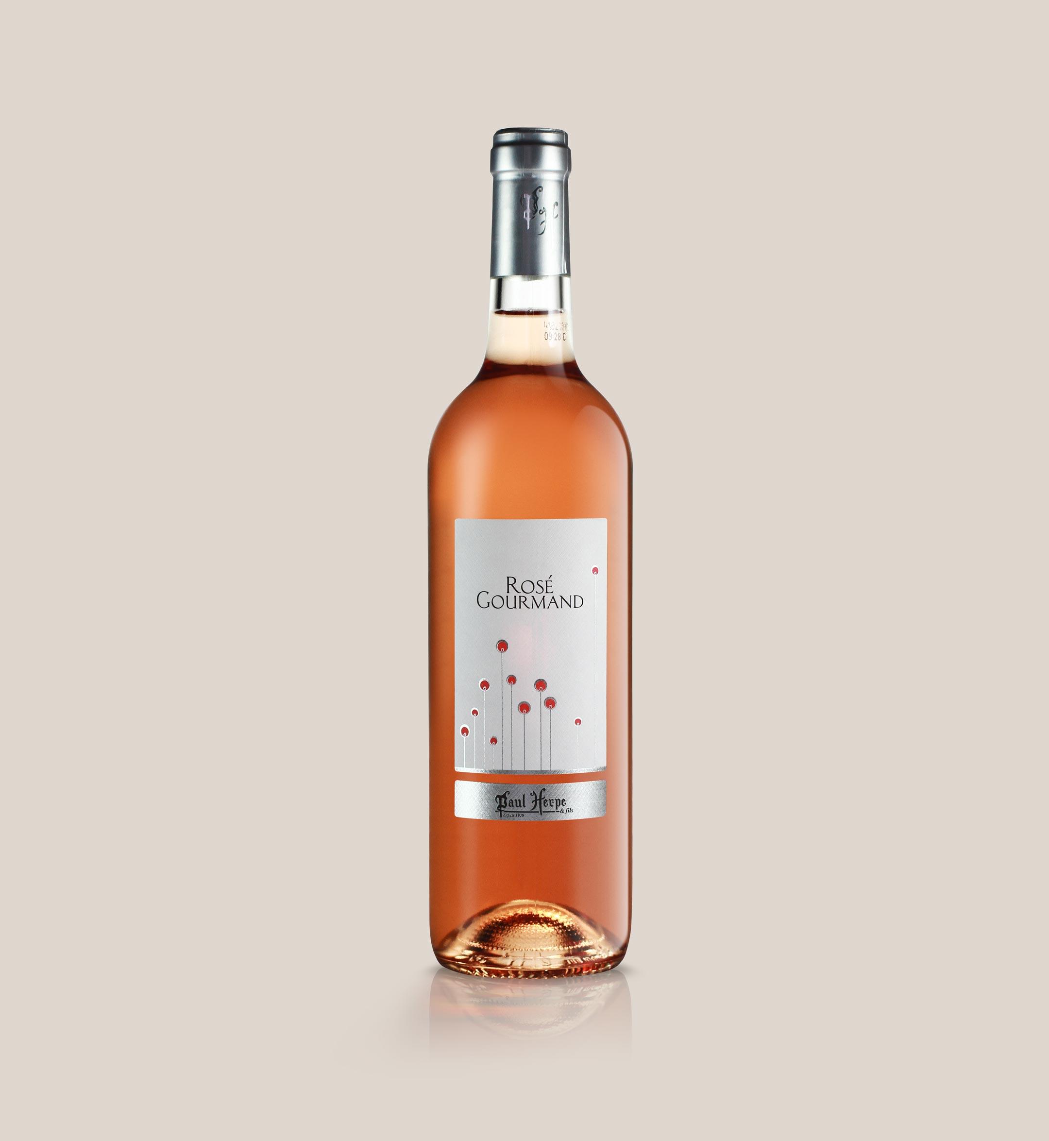 Rosé Gourmand - bouteille de vin de pays d'oc Paul Herpe