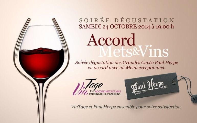 Paul Herpe accords mets et vins à Liege en Belgique