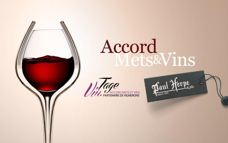 Accord mets et Vins Paul Herpe